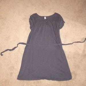 A gray short dress